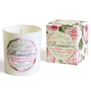 Ароматическая свеча Nesti Dante Romantica Florentine Rose and Peony 160 г